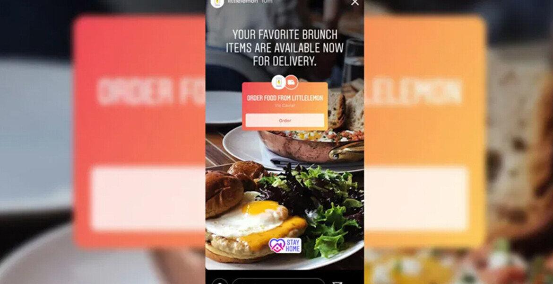 Instagram Üzerinden Yemek Siparişi Dönemi Başladı!